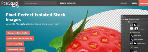 Pixelsquid provides editable & ready-made 3D files on stock image platform