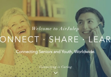 Support From Afar: Helping Seniors and Students be Alone Together