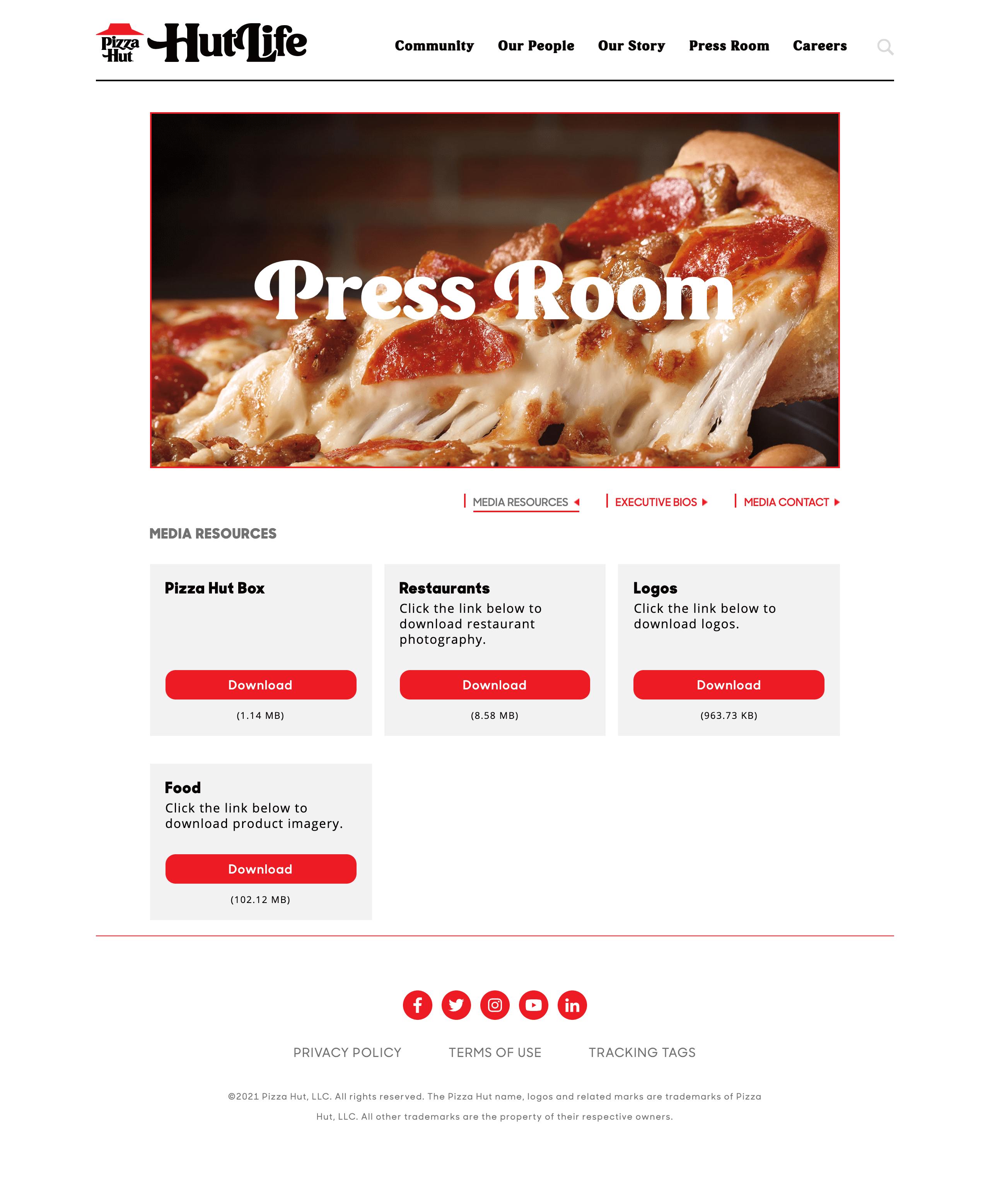 Pizza Hut press kit