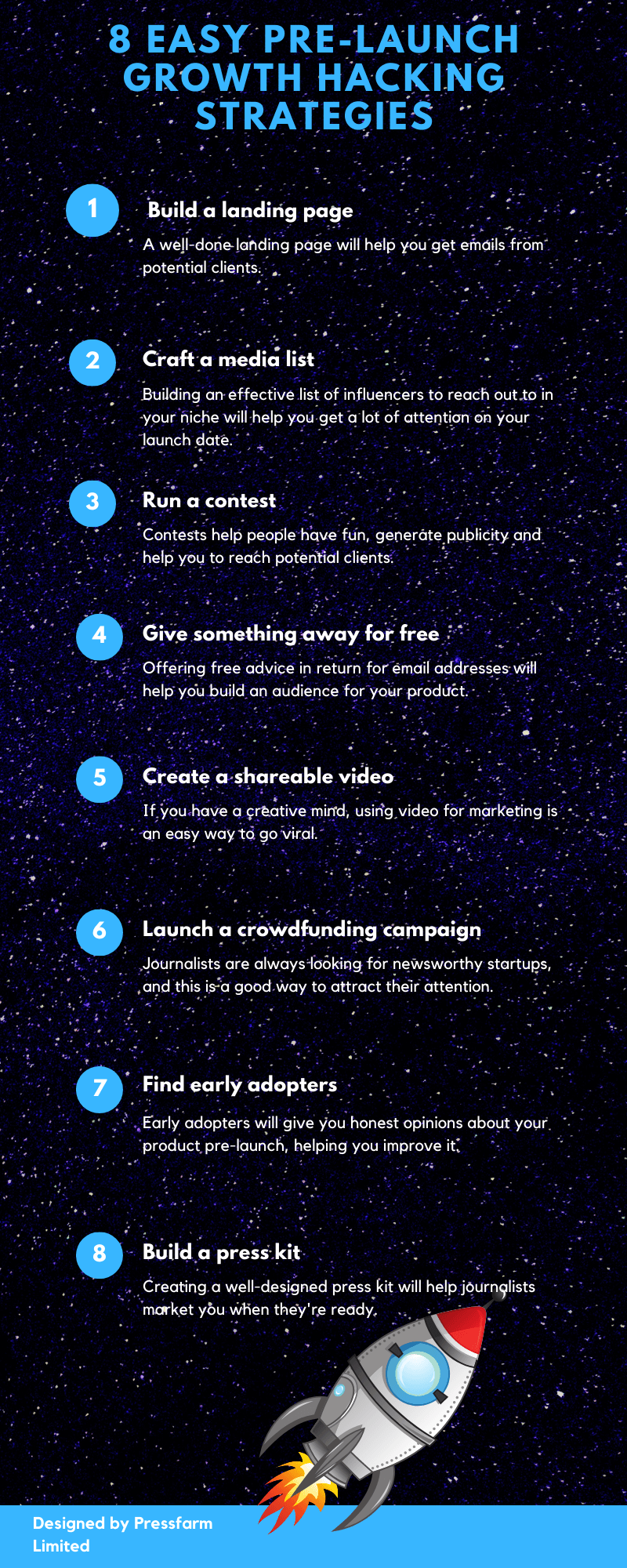 8 easy pre-launch growth hacking strategies