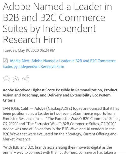 Adobe press release