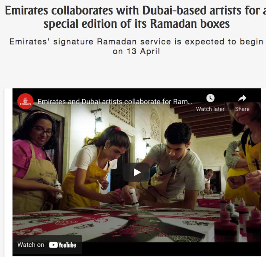 Emirates press release