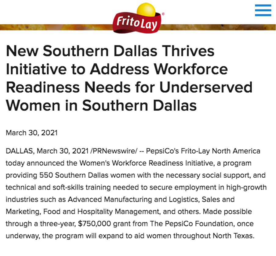 FritoLay press release
