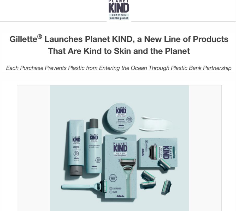 Gillette press release