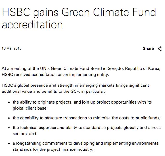 HSBC press release