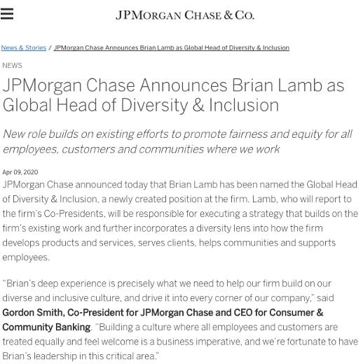 JP Morgan press release
