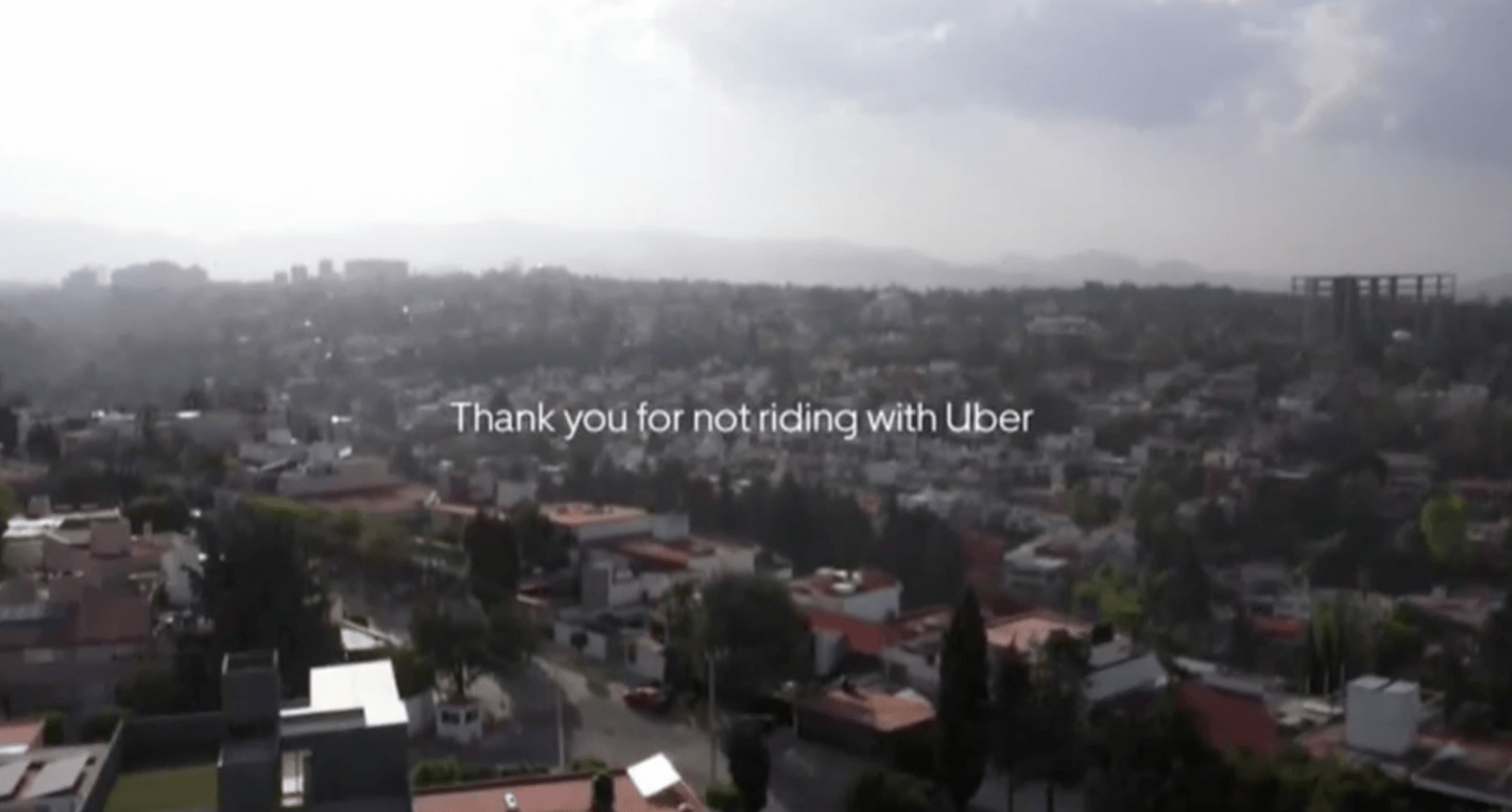 Thank you for not riding with Uber