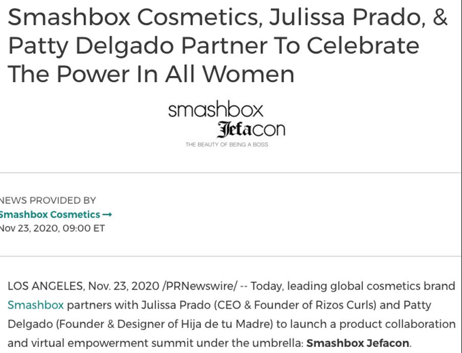 Smashbox press release