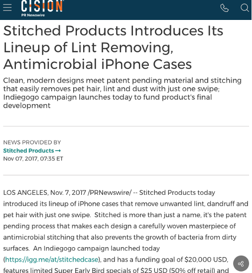 Stitched Products press release