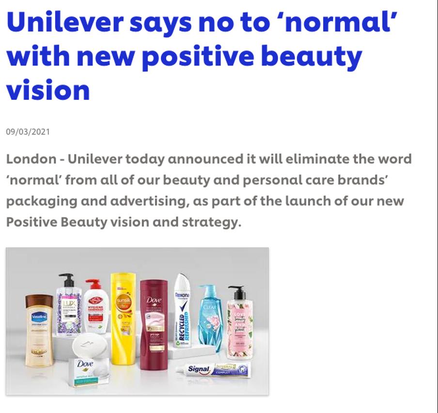 Unilever press release