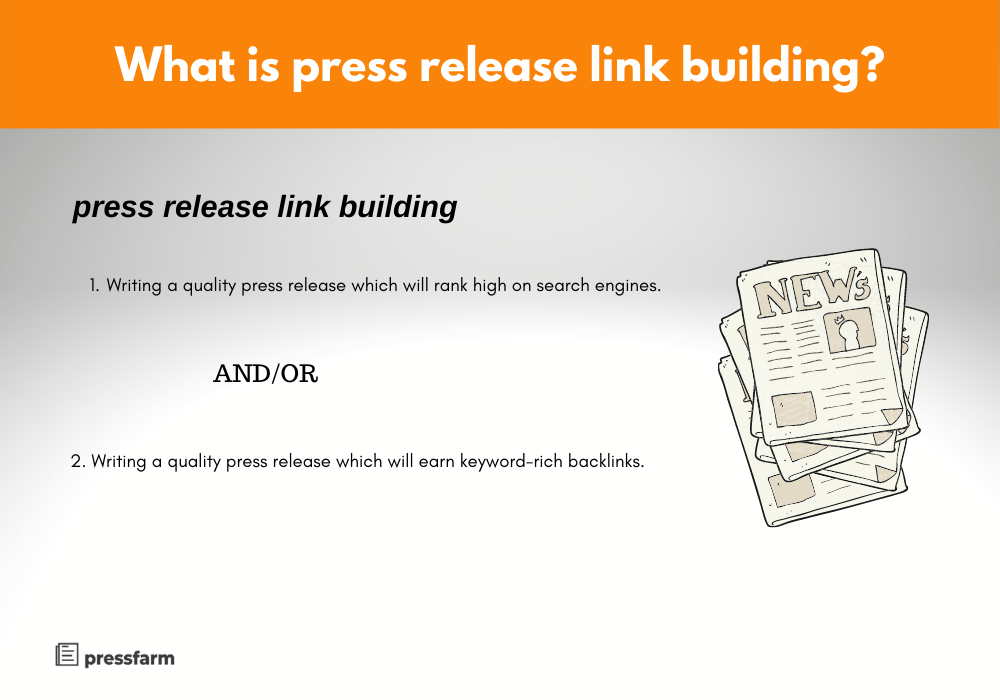 What is press release link building