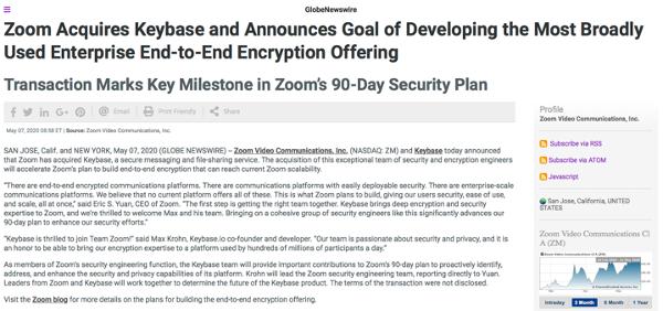 zoom press release