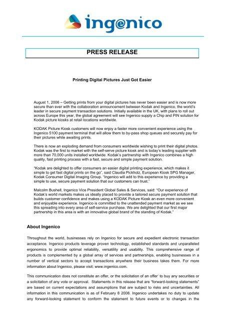 Ingenico press release