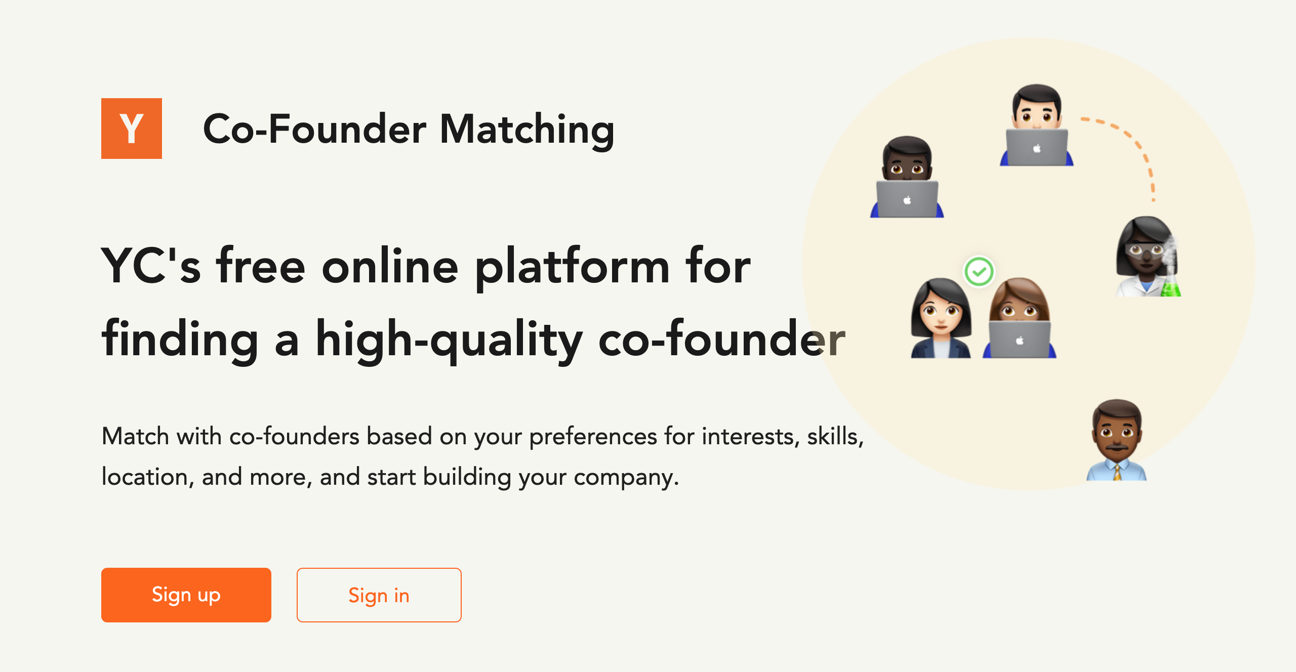 Y Combinator Co-founder Matching